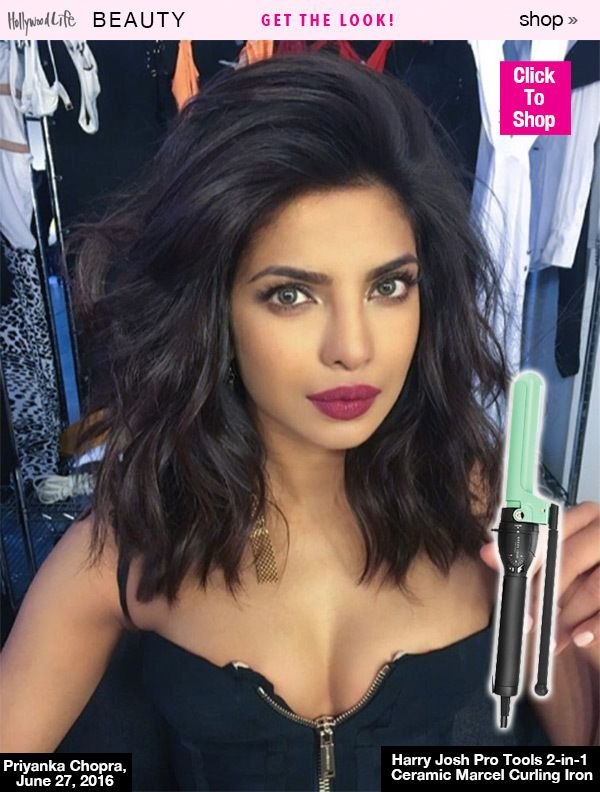 Priyanka Chopra S Perfect Hair Shop Her Exact Curling Iron For Beachy Waves Medium Hair Styles Hair Styles Midlength Haircuts