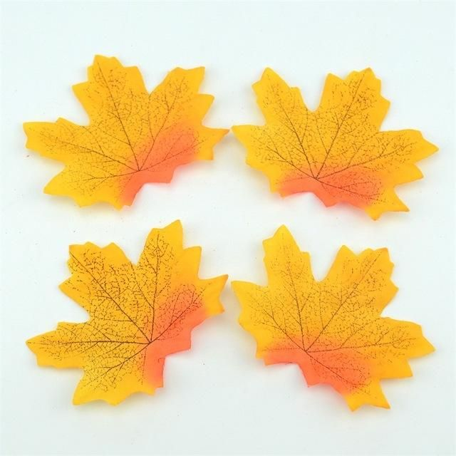 Wedding 100Pcs Artificial Scrapbook Party Home Decor Fall Leaf Maple Leaves