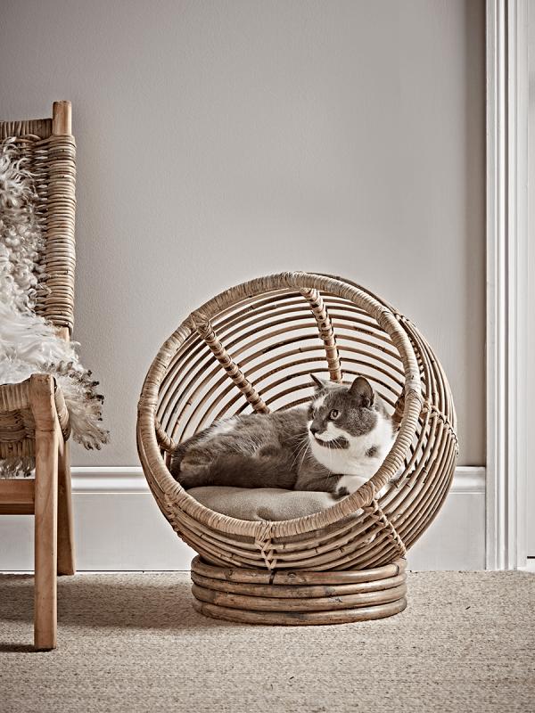 Rattan Pet Cocoon Pet beds, Luxury pet beds, Animal room