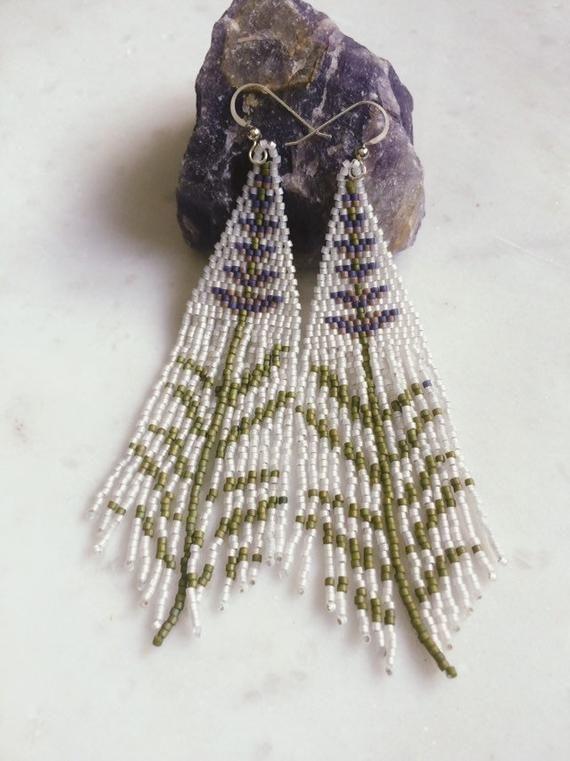 glass beaded earrings beadwork jewelry unique jewelry for her gold Handmade chandelier earrings en red black dangle drop earrings