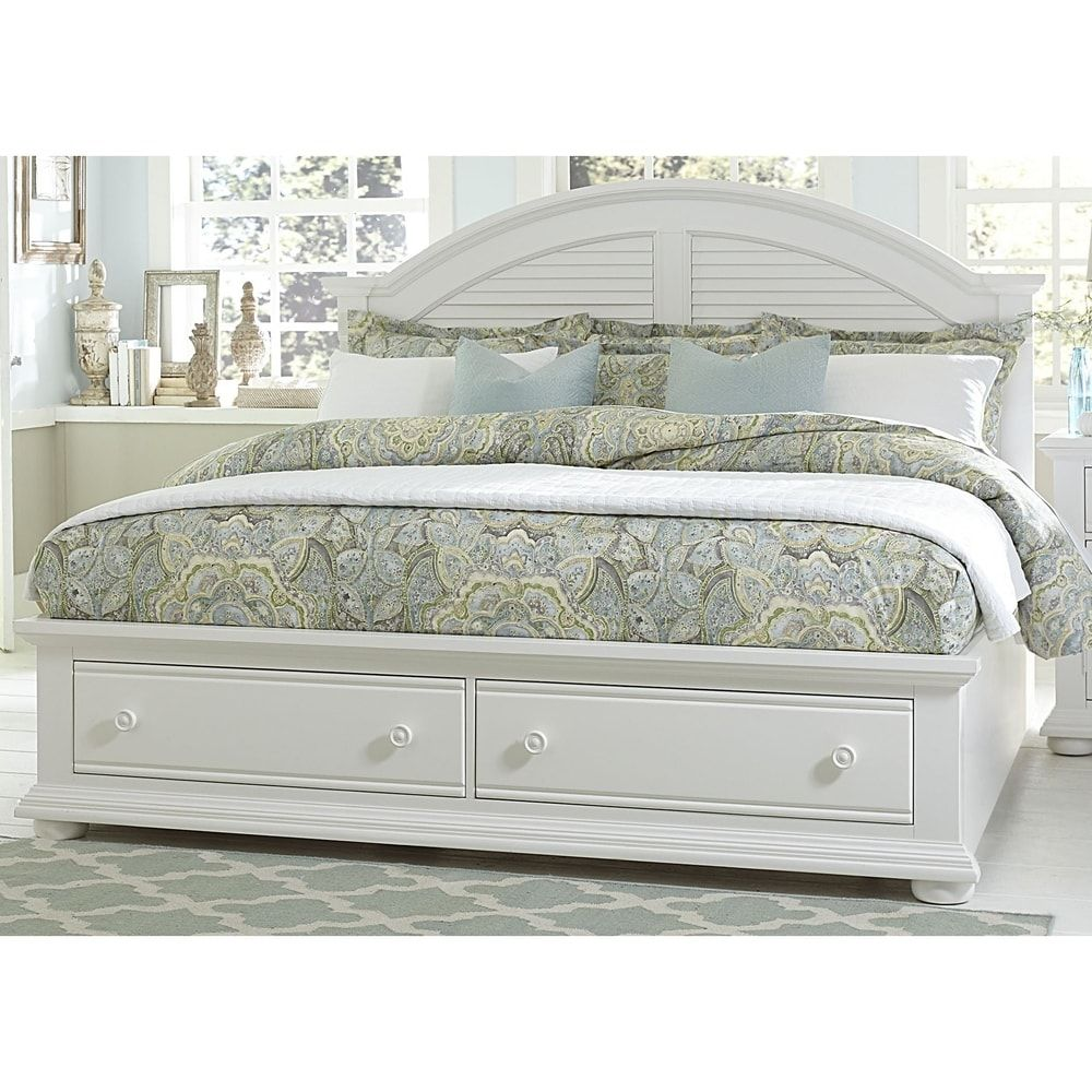 Summer house oyster white cottage storage bed overstock