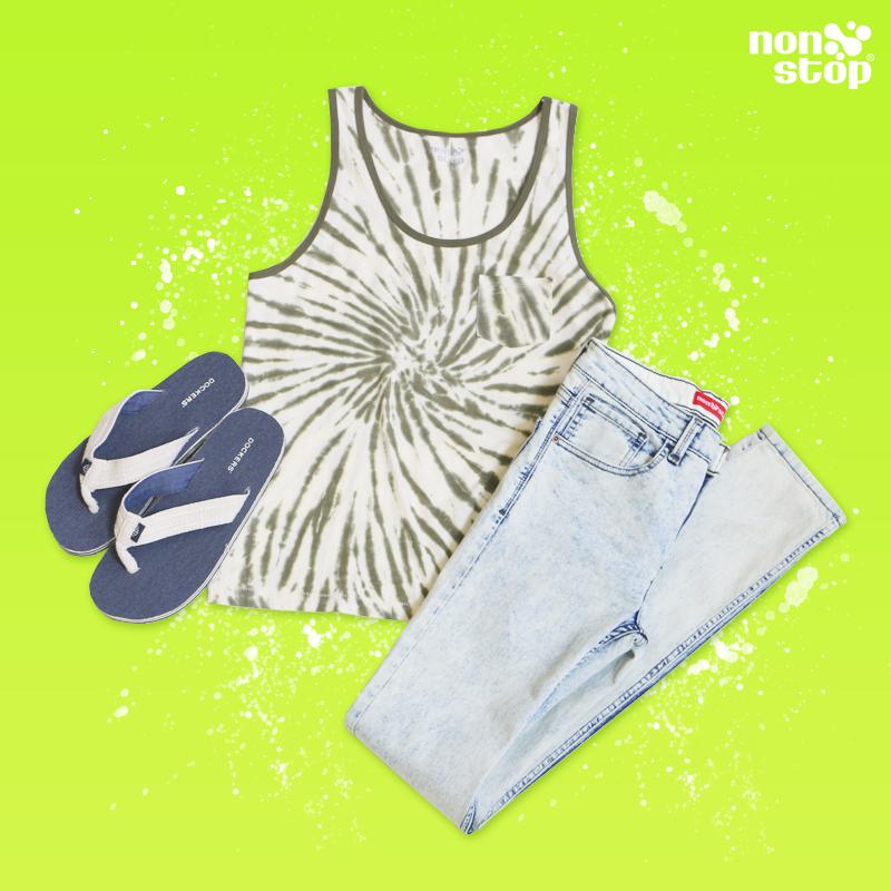 Crea un look muy fresco y cómodo que te haga lucir a la moda.