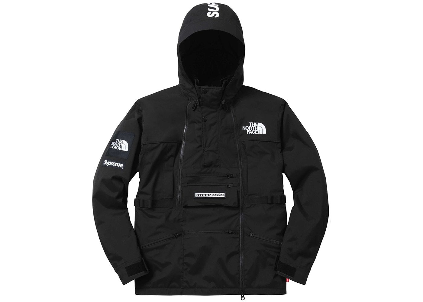 Hooded Steep Jacket The Face North In Supreme Tech Black N80PwnkOX