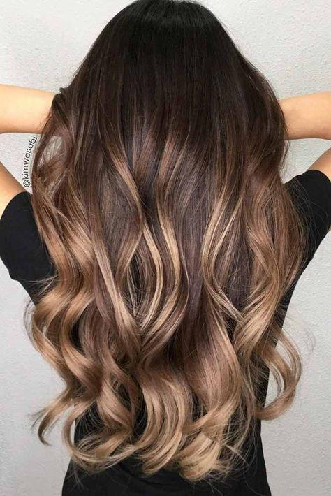 55 Highlighted Hair for Brunettes   Balayage, Frisuren und ...
