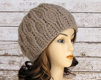5b01421a936a20 On Sale 15% Off Crocheted Alpaca Hat, Taupe Woman's Hat, Natural Alpaca  Cloche, Ready to Ship