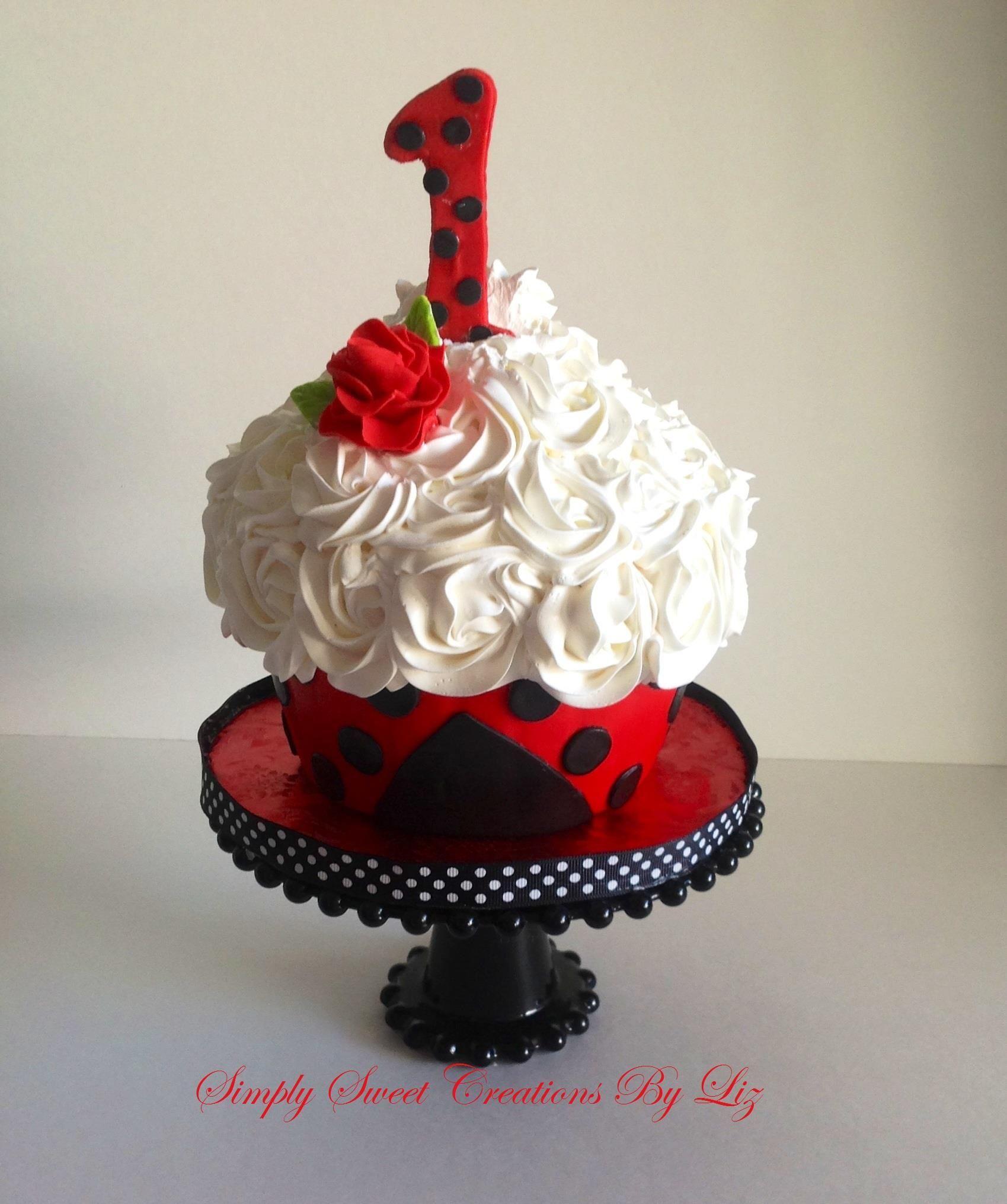 Fantastic Lady Bug Smash Cake Ladybug 1St Birthdays 1St Birthday Party Birthday Cards Printable Giouspongecafe Filternl