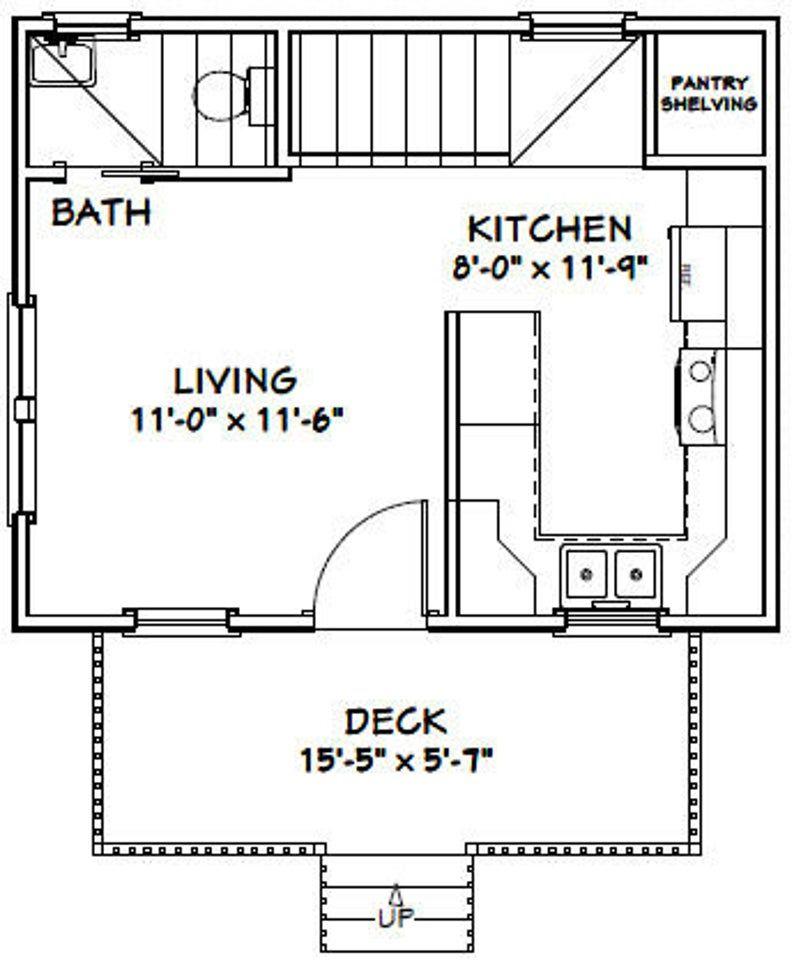 20x16 House 2Bedroom 1Bath 630 sq ft PDF Floor