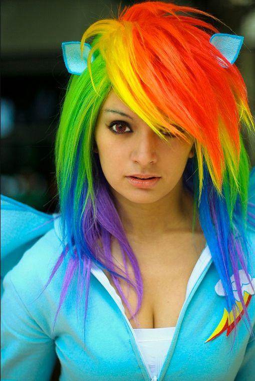 Rainbow Dash Hair : rainbow, Rainbow, Little, Friendship, Magic, Cosplayed, LadyMella, Styles,, Scene, Hair,