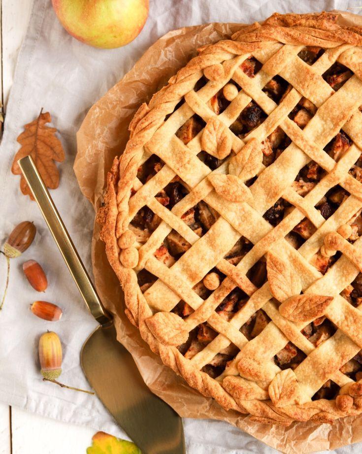 Perfekt für den Herbst: Apple Pie mit Mürbeteig-Gitter - #applepie