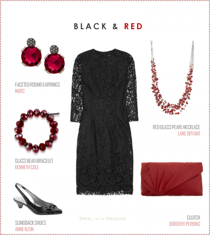 Black Lace Dress With Red Accessories Black Dress Accessories Red Dress Accessories Black Lace Dress