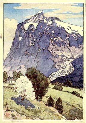 Wetterhorn - by Hiroshi Yoshida, 1925