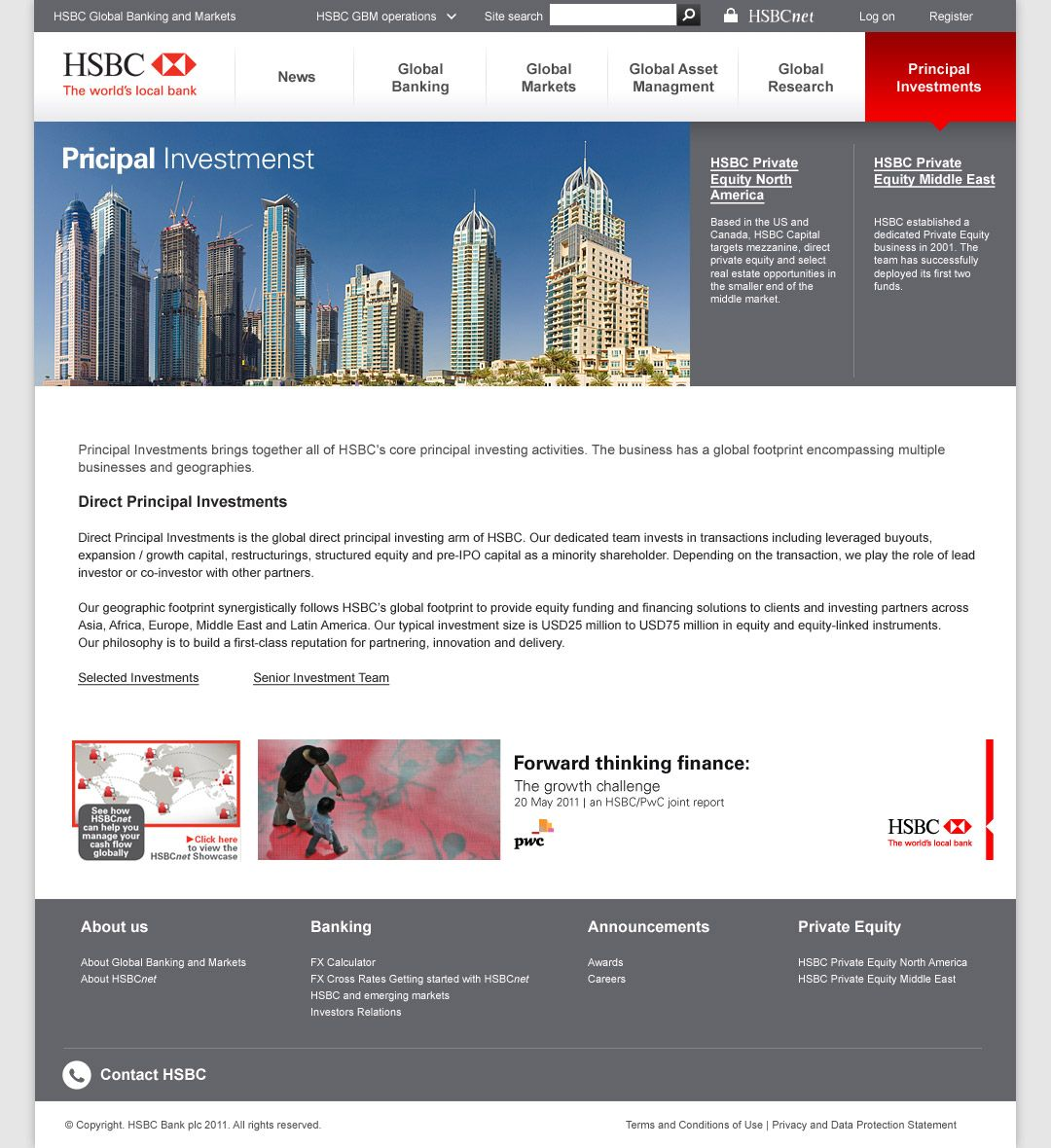 Principal Investment | HSBC Bank | Investing, Principal