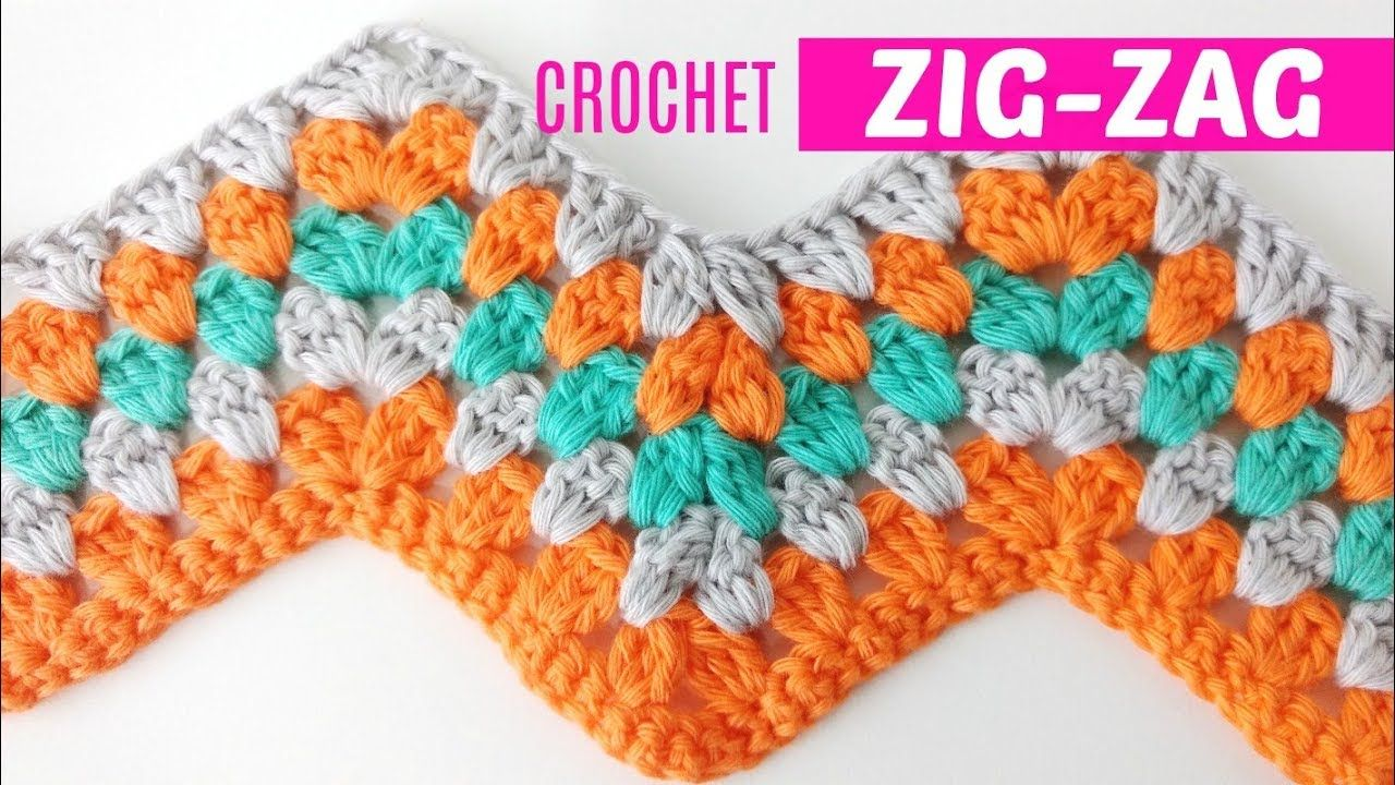 Punto espiga a crochet o zig-zag #4 estilo granny | Handwork Diy ...