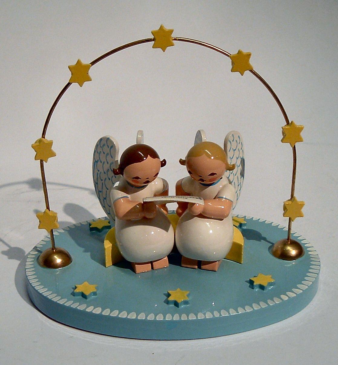 wendt und k hn zwei engel im bogen 5232 9 holz kunst. Black Bedroom Furniture Sets. Home Design Ideas