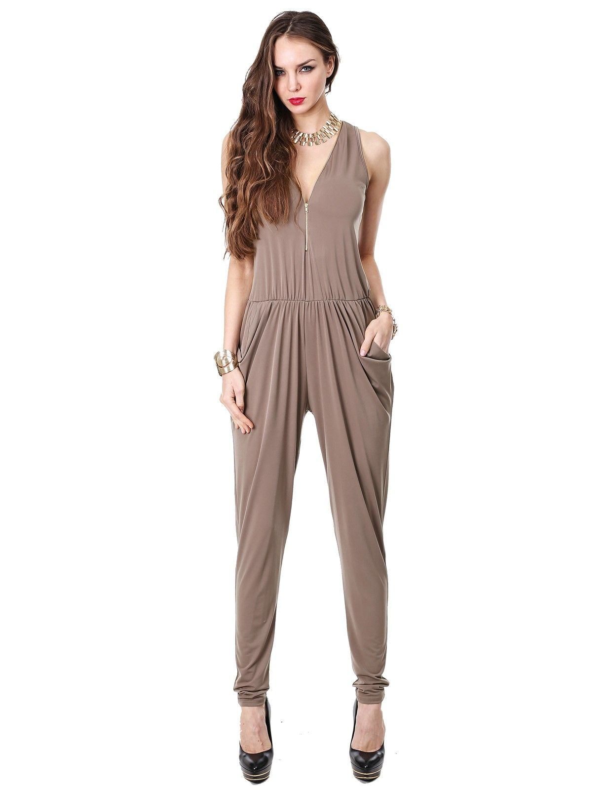 Chic Sleeveless Stretchy Jumpsuit #11foxy