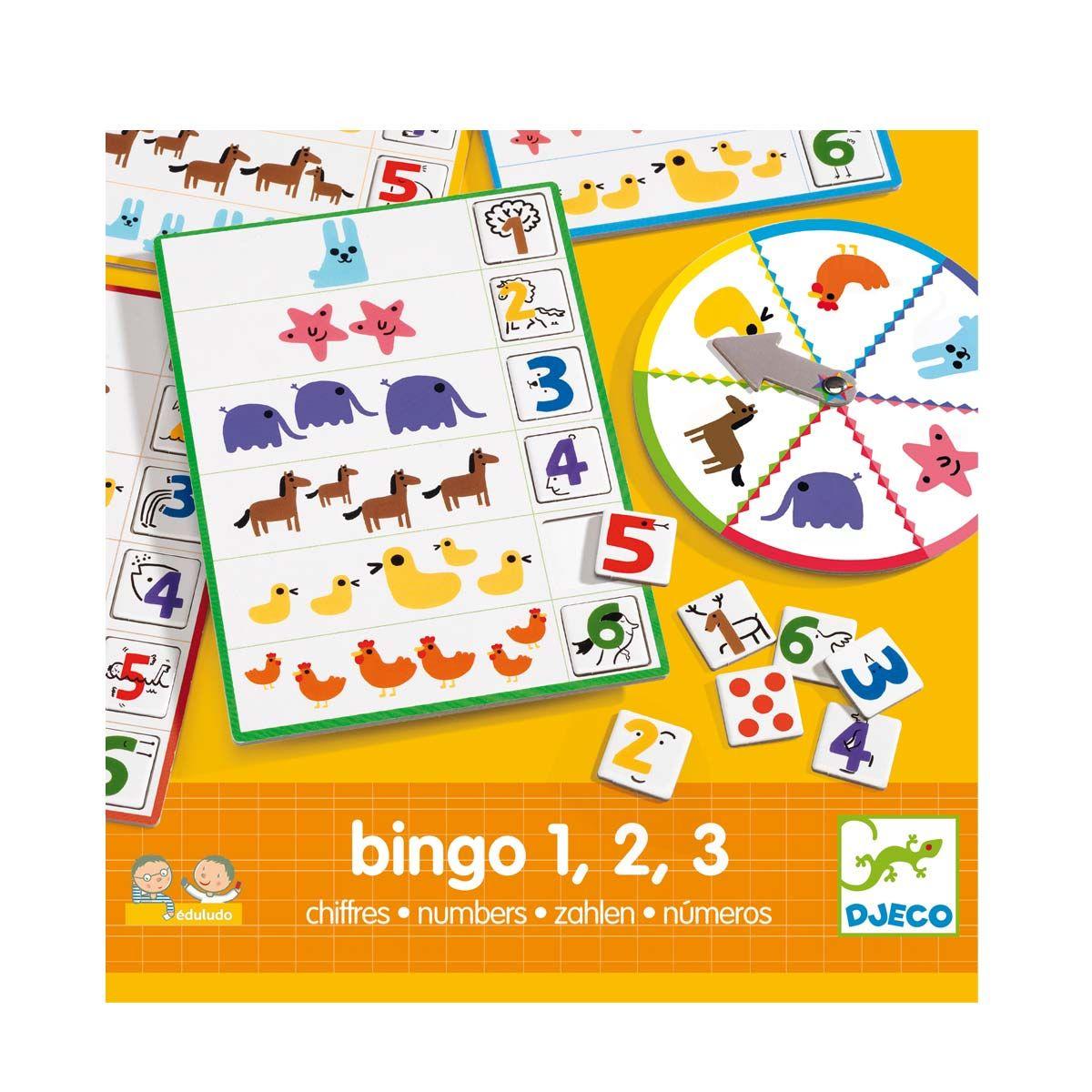 jeu ducatif bingo chiffres djeco pour enfant de 4 ans 6 ans oxybul veil et jeux jeux et. Black Bedroom Furniture Sets. Home Design Ideas