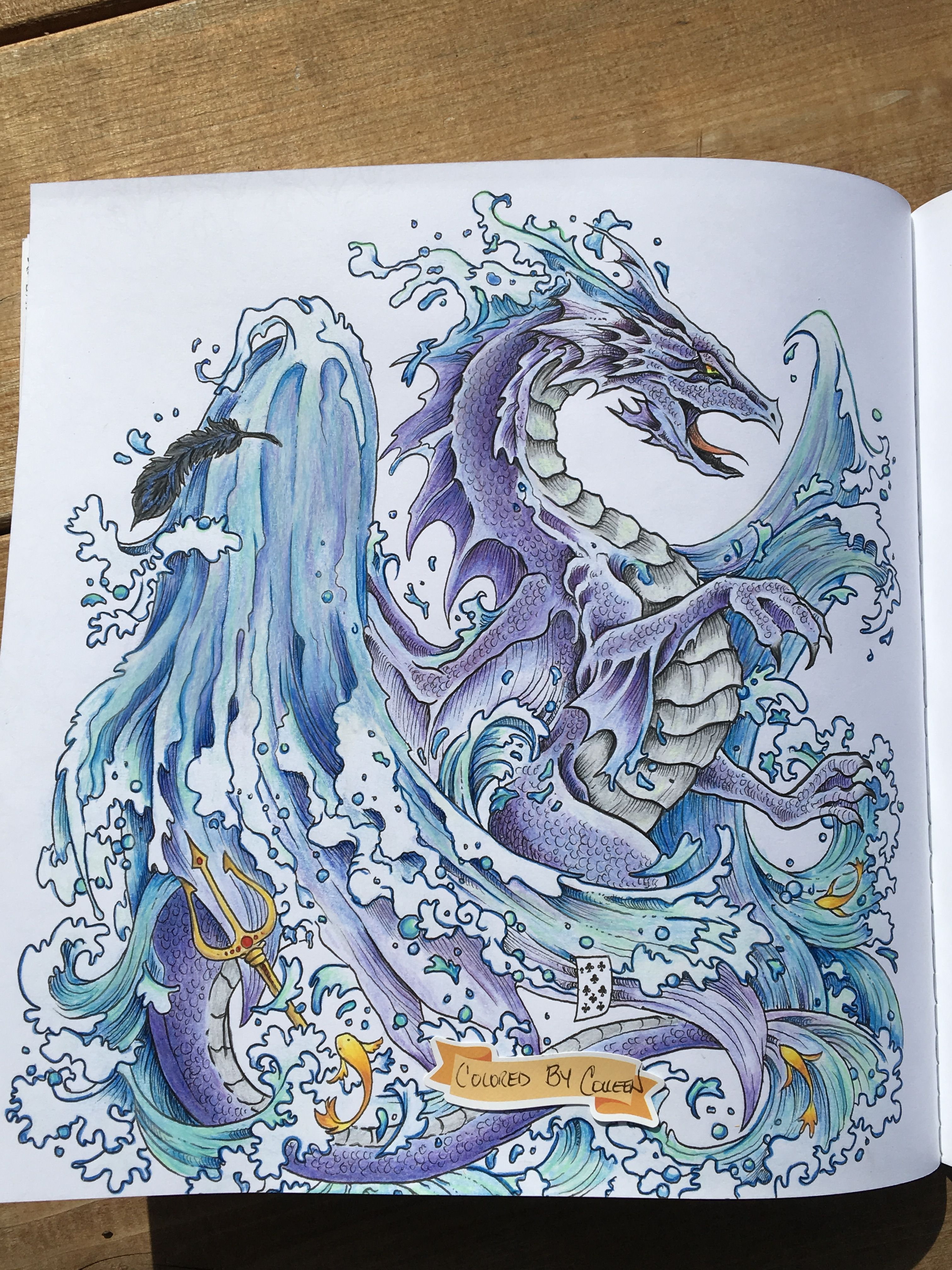 Mythomorphia, colored by Colleen Hofer.  Color drawing art