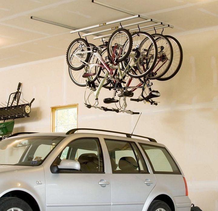23 clever ways to declutter your garage hanging bike