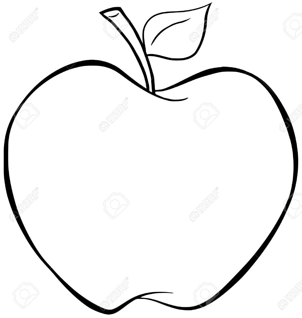 Pomme dessin noir et blanc recherche google pomme - Dessin pomme apple ...