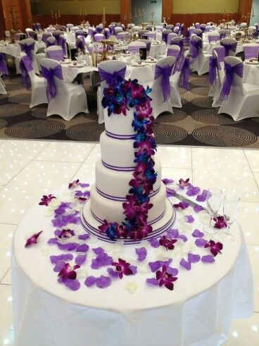 Cake Reception Decor Purple Wedding Cakes Purple Wedding