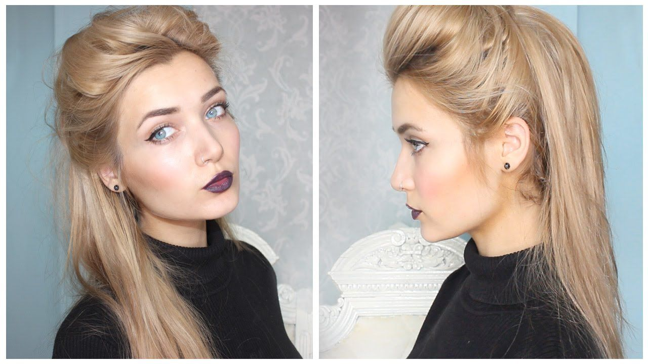 a quick and easy slightly pin up hairstyle for back to school