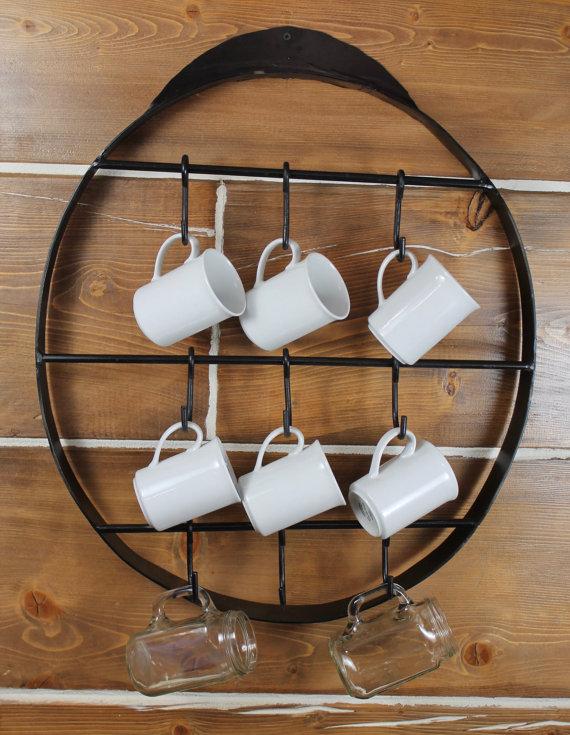 Cup Rack Cup Holder Cup Storage Cup Hanger Coffee Cup Etsy Coffee Mug Display Coffee Cup Holder Mug Display