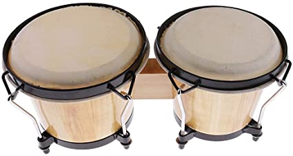 Amazon Com No Logo Hf Percussion Durable Wood Bongo Drum African Traditional Drum Band Party Accessory Drum Perc Bongo Drums Percussion Instruments Drum Band
