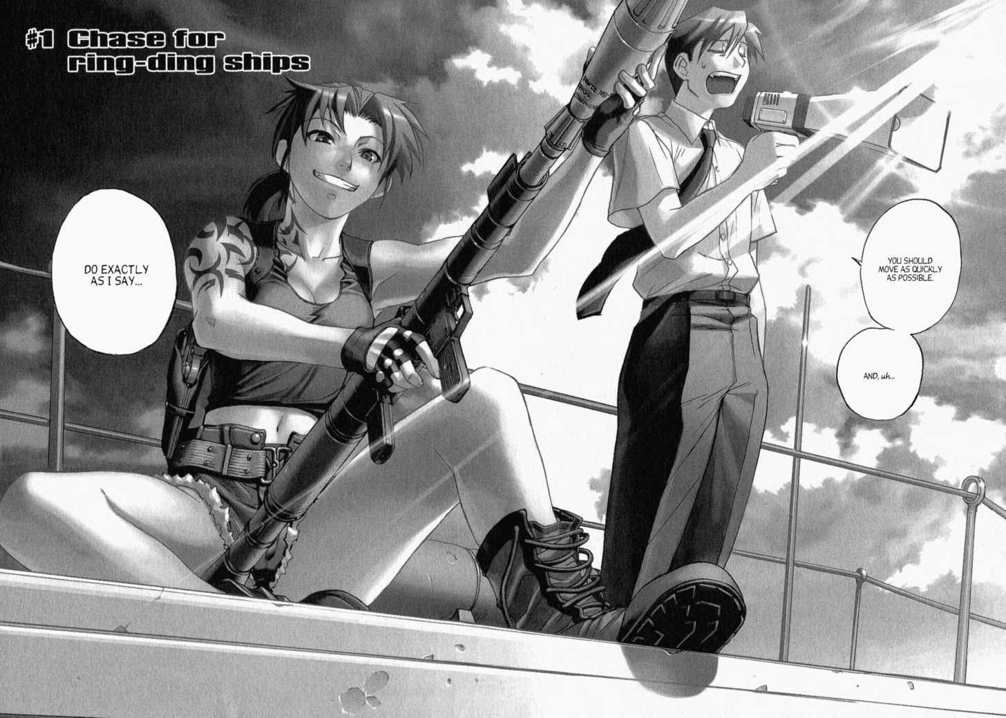 revy and rock black lagoon anime is love pinterest