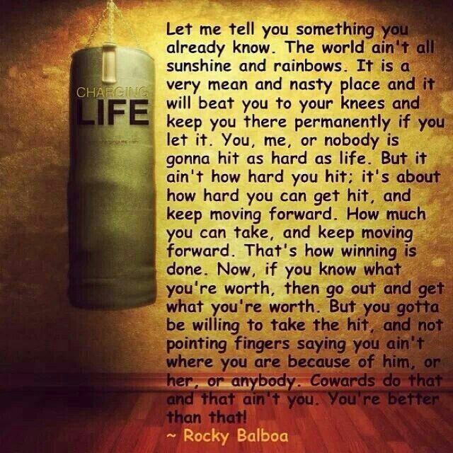 Rocky Balboa on charging life. Love this!!
