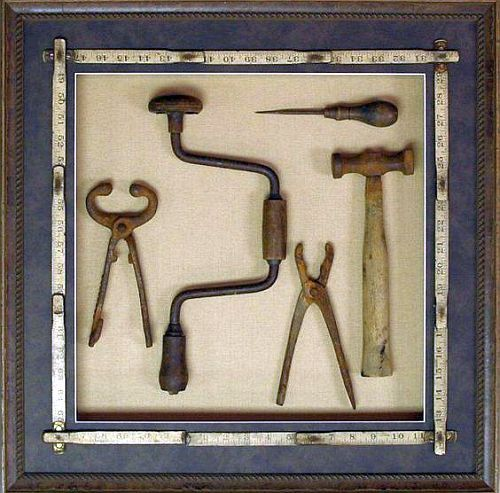 Shadow Box For Old Tools Shadow Boxes Wood Working Gifts Diy Woodworking