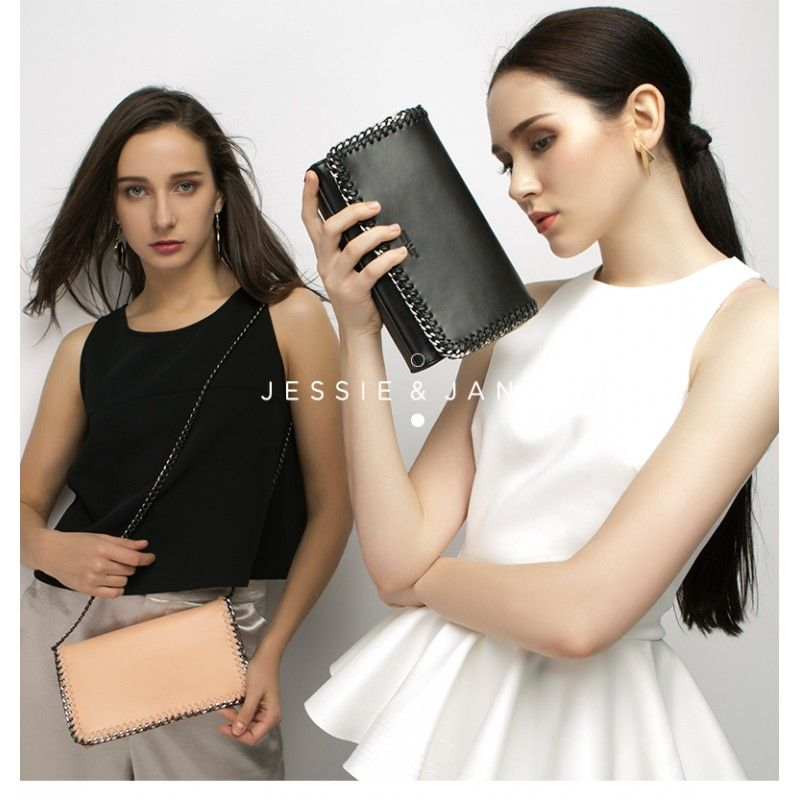Jessie & Jane New Fashion metal trim shoulder bag, crossbody bag. With the most fashion element! Be a pink lady, or be a black rocker? All for you in Jessie & Jane! https://jessiejaneaustralia.com.au