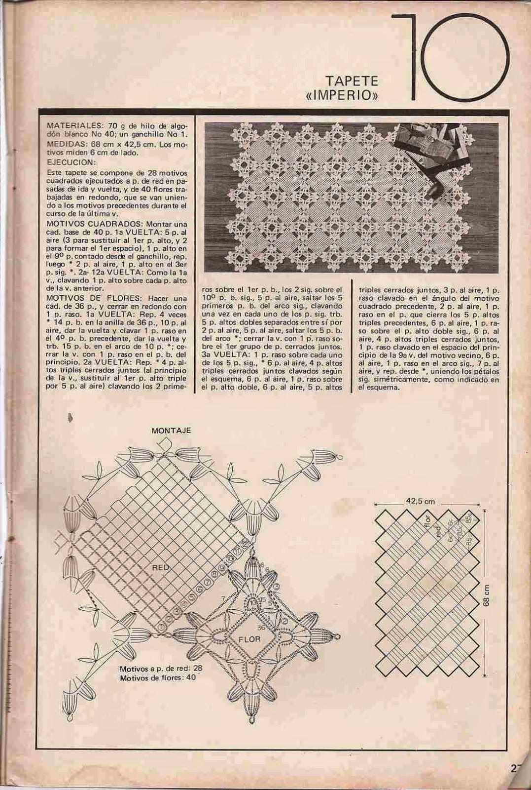 Patrón de tapete | tapetes y carpetas que crochet | Pinterest ...