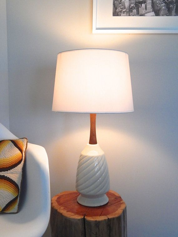 Sold vintage leviton white ceramic table lamp on etsy 67 00