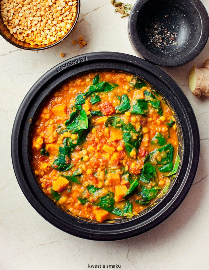 Chana Dal W Sweet Potatoes Tomatoes And Spinach Cooking Recipes Dinner Cooking