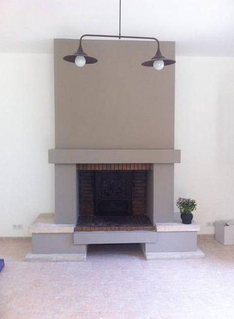 comment moderniser une vieille chemin e par sarah archi in 39 en 2018 feu pinterest. Black Bedroom Furniture Sets. Home Design Ideas