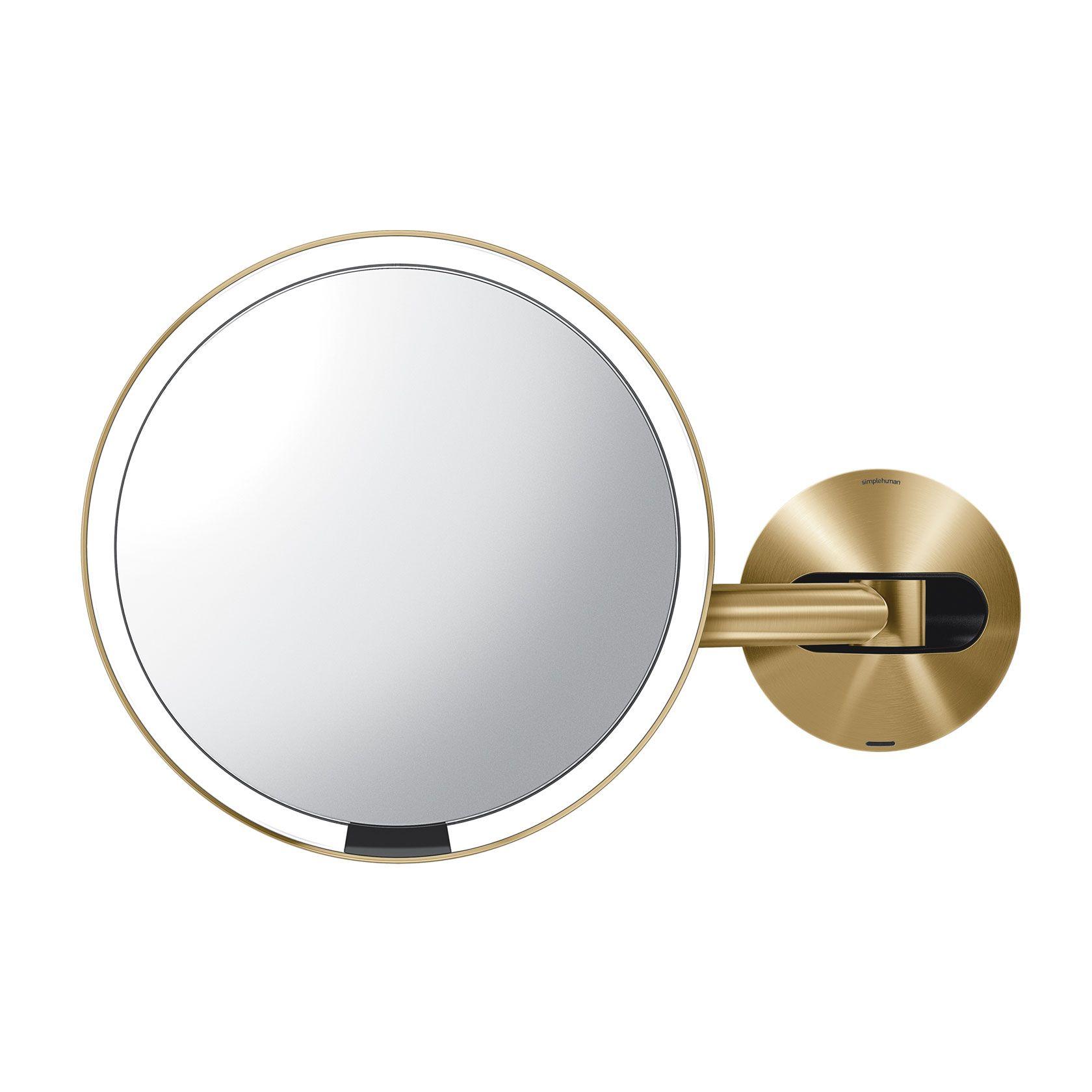 Simplehuman 8 Inch Wall Mounted Sensor Mirror Lighted Makeup