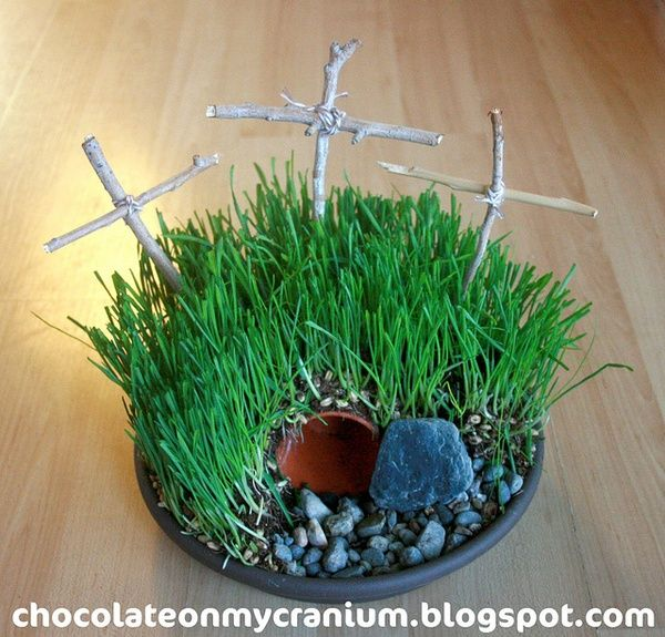 Easter Garden Craft Ideas Part - 21: The Living Christ: Calvaryu0027s Hill Or Empty Easter Tomb Garden Craft U2013  Cranial Hiccups