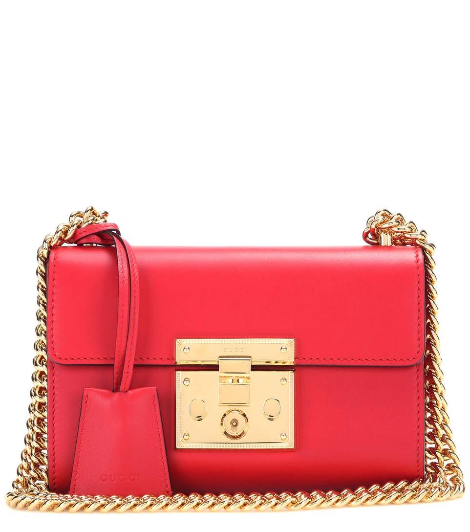 5f41c140d8f9 GUCCI Padlock Small Leather Shoulder Bag.  gucci  bags  shoulder bags   lining  suede