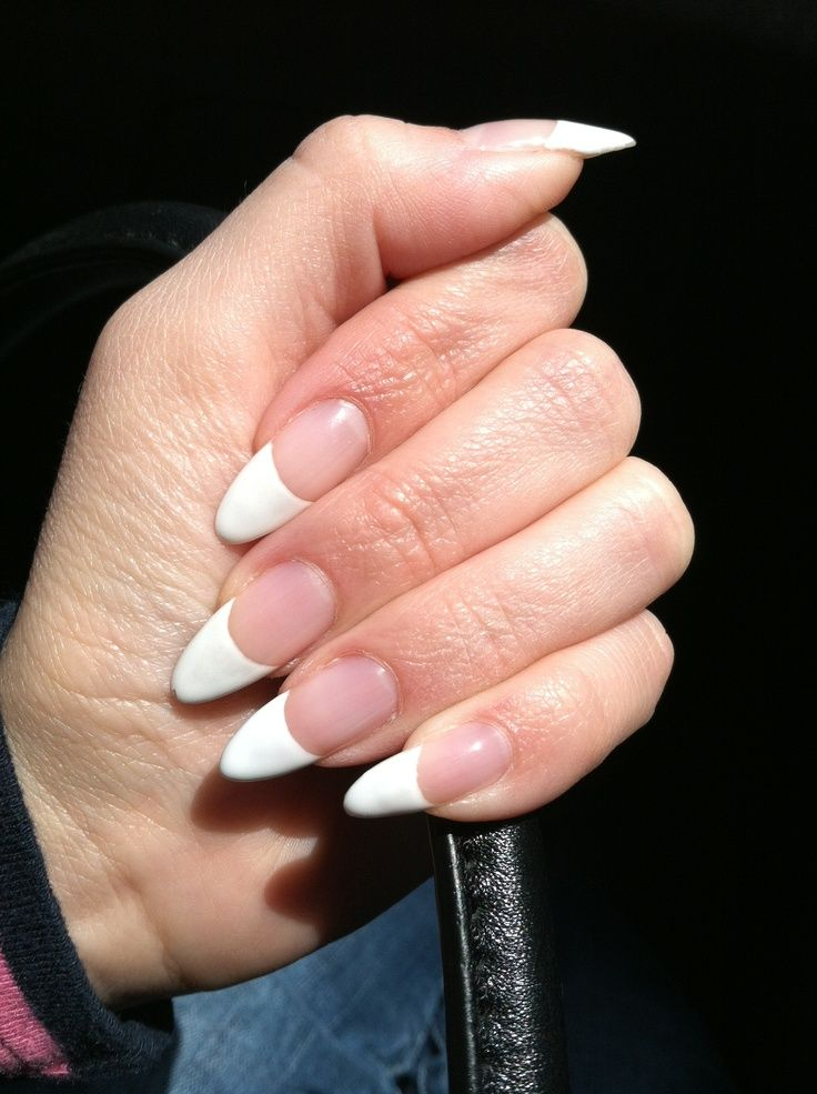 Pointy French Manicure Cool Nail Design Ideas Nails Manicure French Manicure