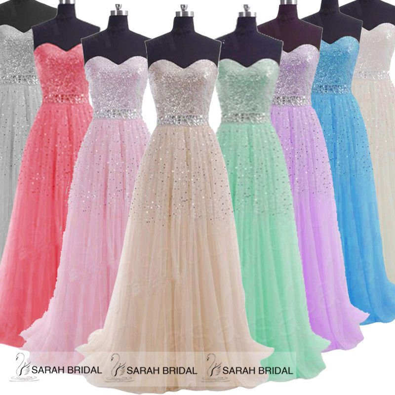 Formal Long Evening Gown Dress Cocktail Party Bridesmaid Prom Size 8 10 12