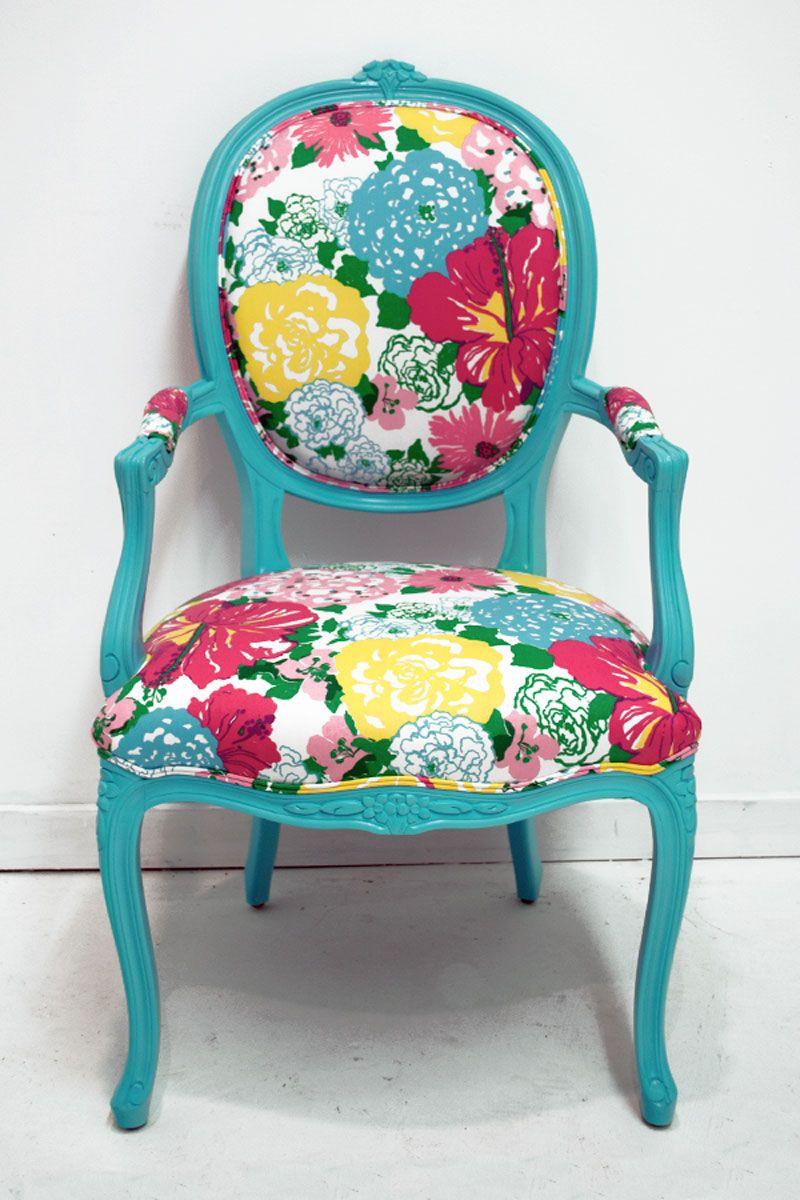 Etonnant Eileen U0026 Taylor | Home Decor U0026 Custom Furniture | Floral Chintz Lilly  Pulitzer Chair