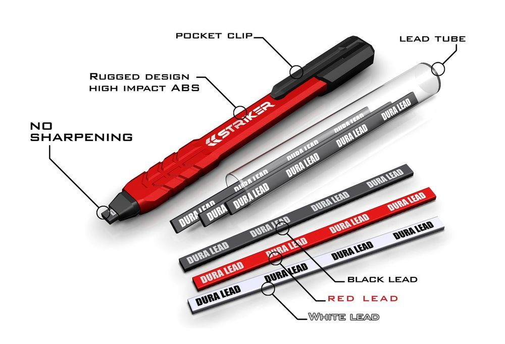 Mechanical Carpenter Striker 77629 Pencil Construction Builders Concepts Latest Strikerconcepts Carpenters Pencil Tools Mechanical Pencils