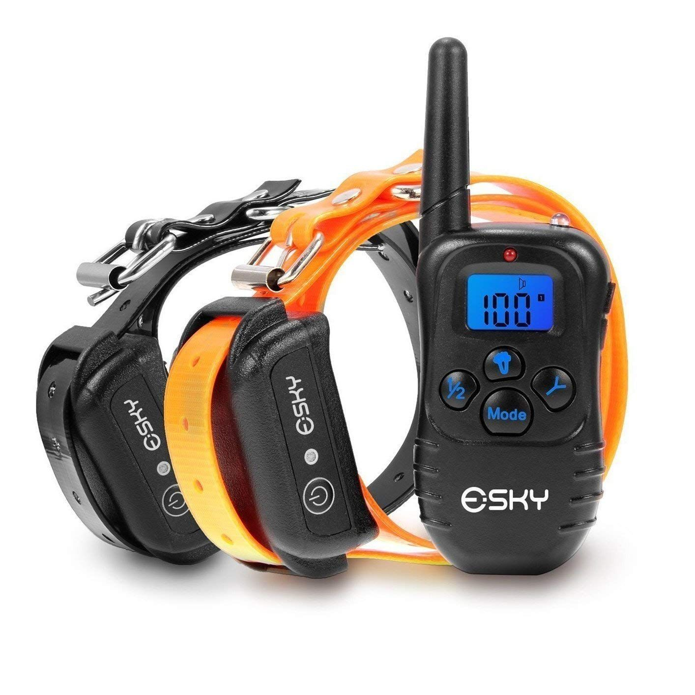 Esky 330 yards remote dog training collar rechargeable e