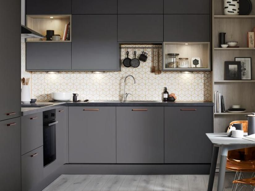 Pin By Nilesh Sujay On Priyanka L Shape Kitchen Layout L Shaped Kitchen Designs Modern L Shaped Kitchens