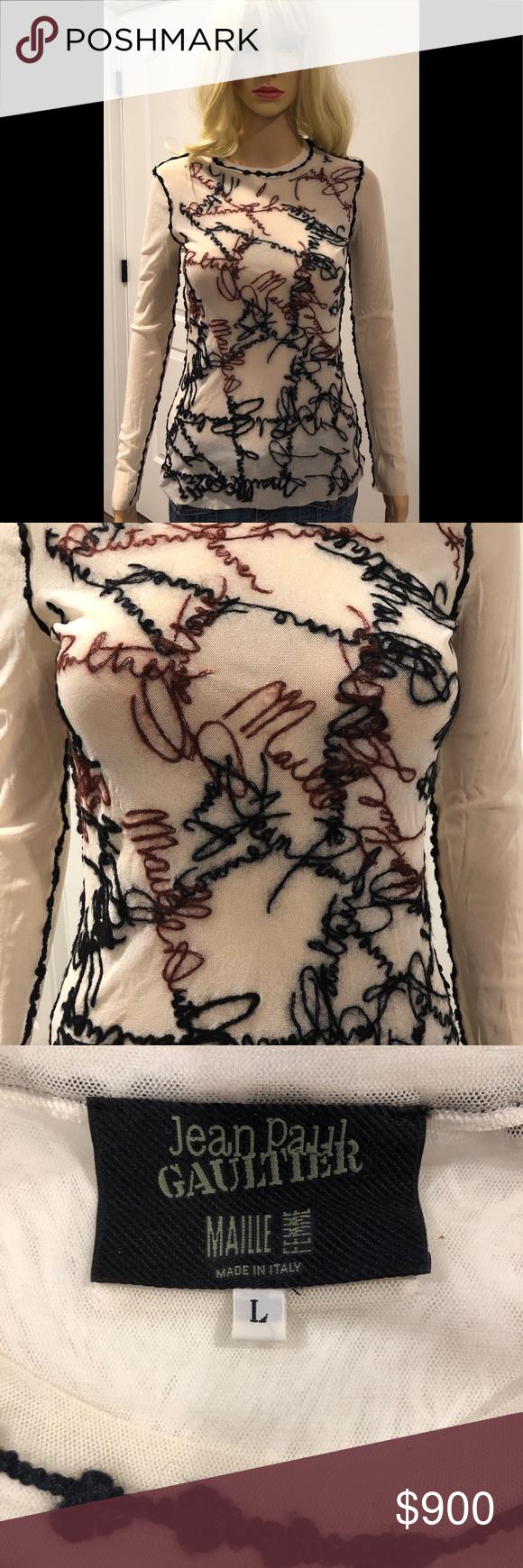 Jean Paul Gaultier mesh top