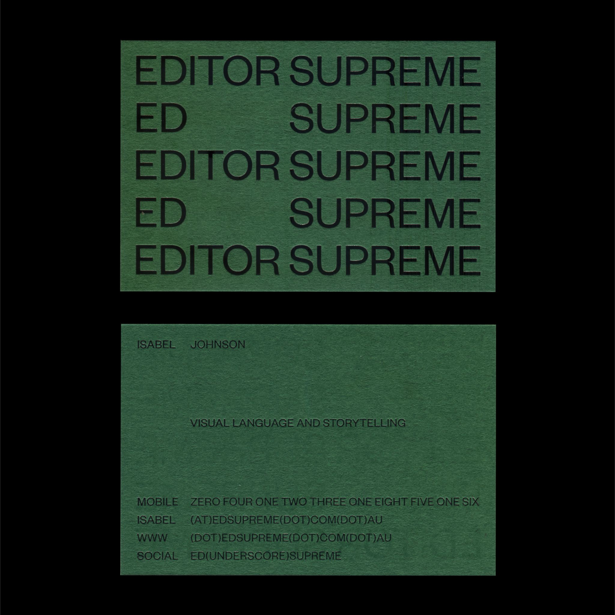 EDITOR SUPREME · Fonts In Use · Klim Type Foundry Editor