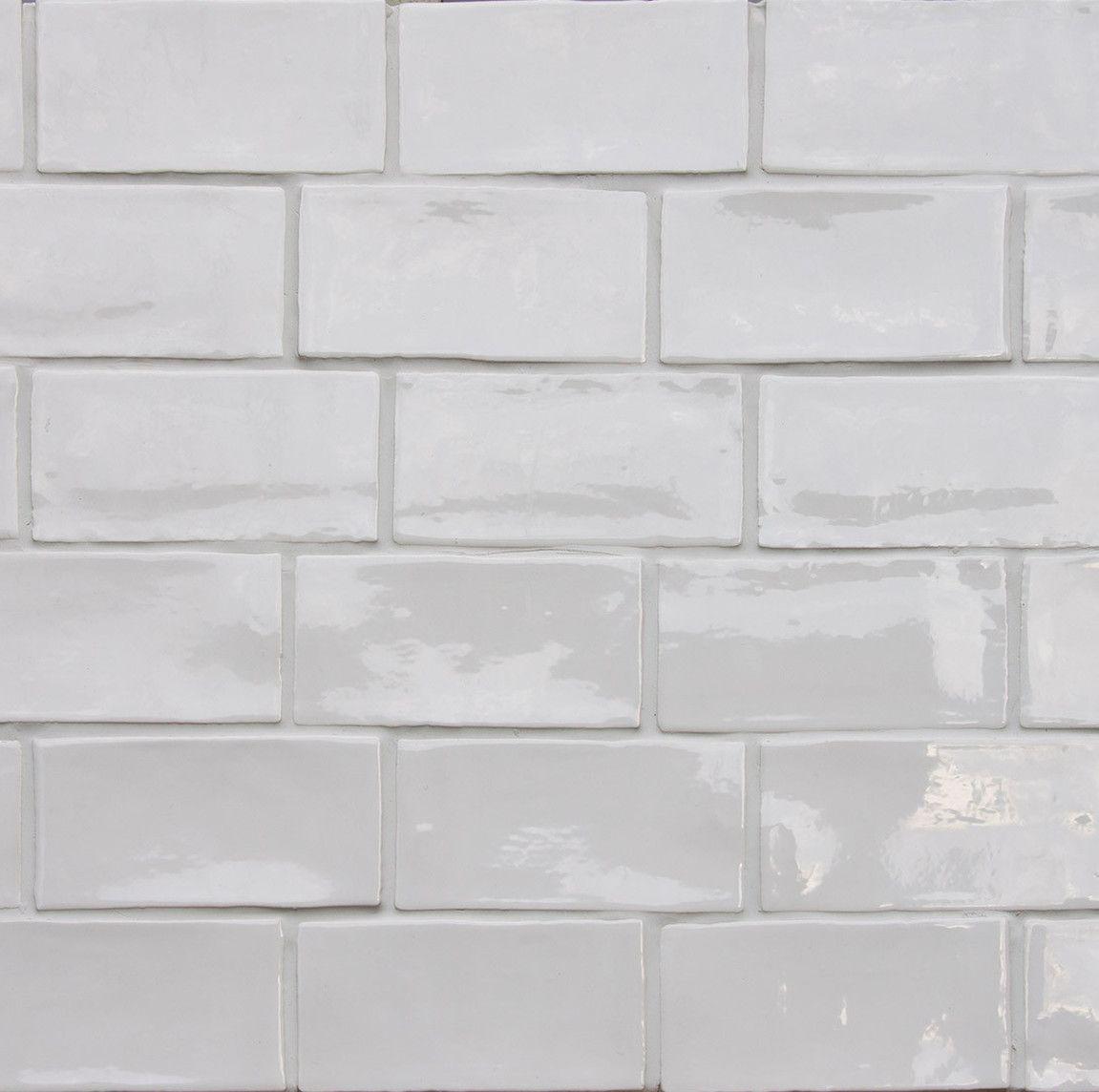 Betonbrick Wall White Glossy 75x15