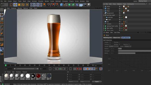 Cinema 4D - Creating Realistic Beer Foam Tutorial | Cinema