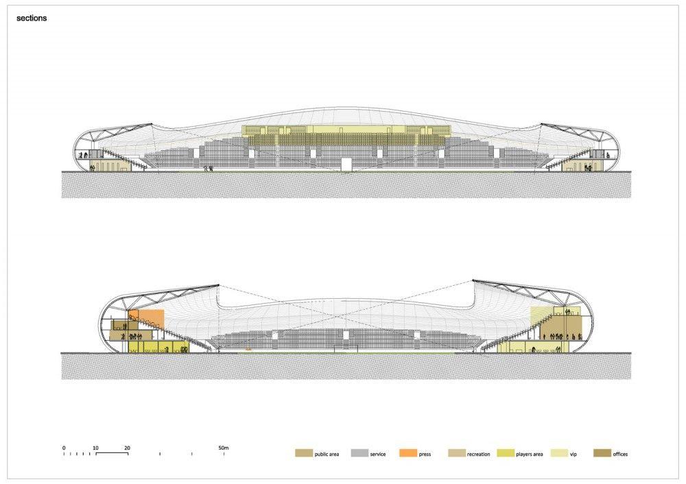 Football Stadium FC Bate Borisov / OFIS Arhitekti