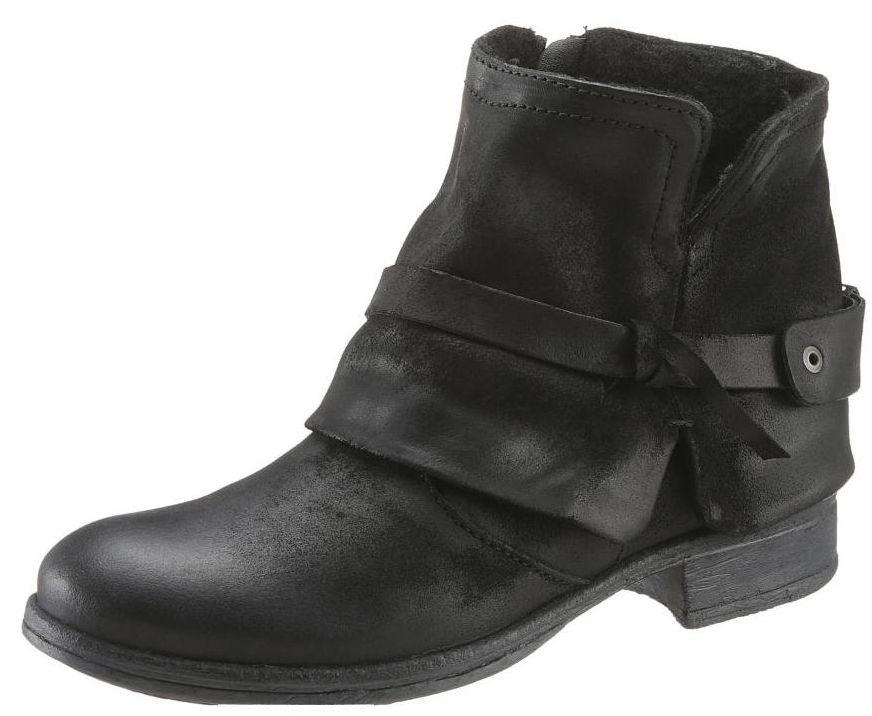 Arizona Skorzane Botki Motocyklowe Damskie Workery 199zl Biker Boot Shoes Boots